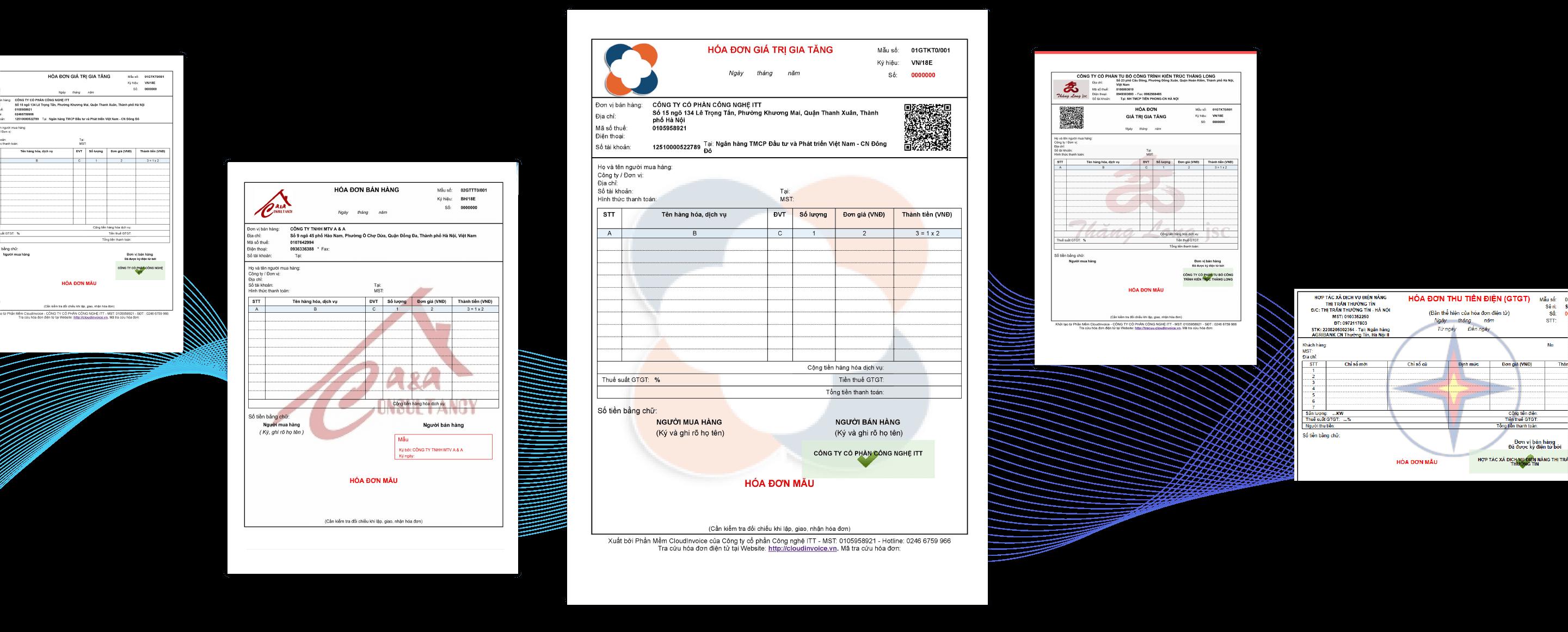 Chủ động thiết kế mẫu hóa đơn - Cloud Invoice